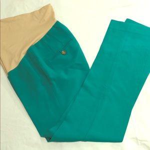 Maternity pants size 0 green